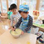 ひかり組 クッキング「ホットケーキ」11月13日(火)